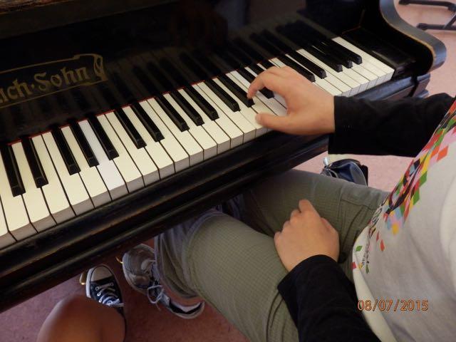 Das Oberschulorchester der MuWe 2015 - aus der Perspektive der Pianistin