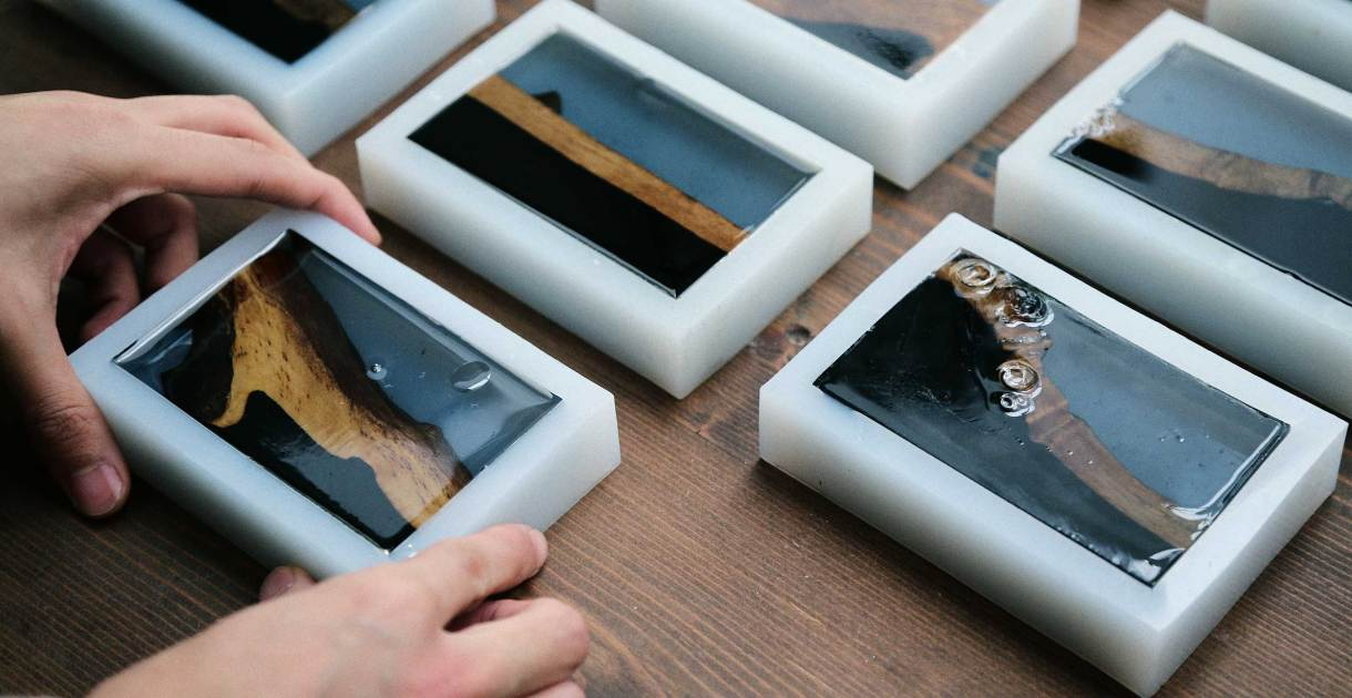 The-Ink-and-Wash-series-ebony-wood-resin-design-unqiue