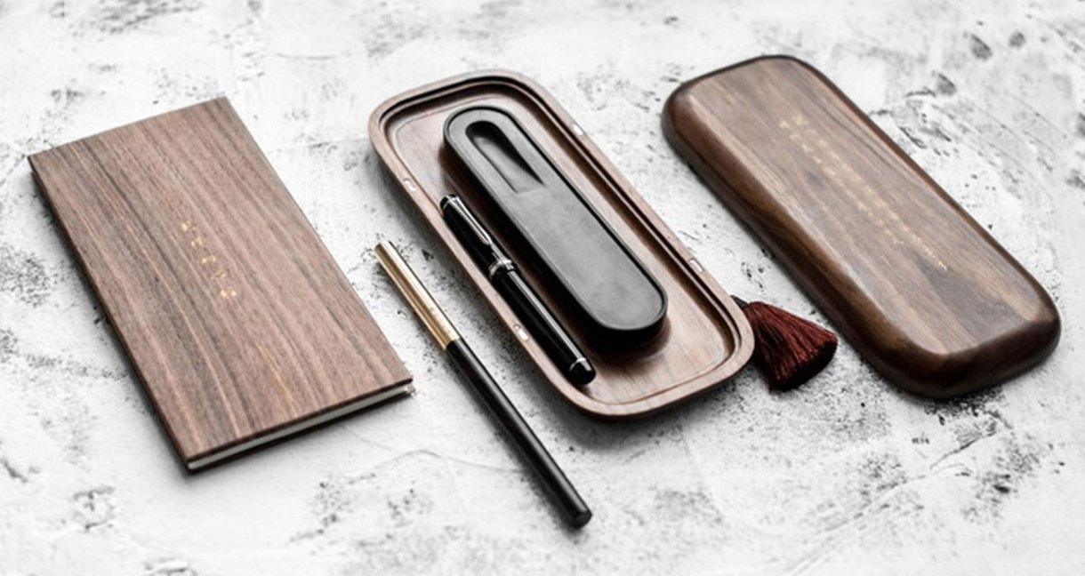 wood-four-treasures-wanut-ebony-pen