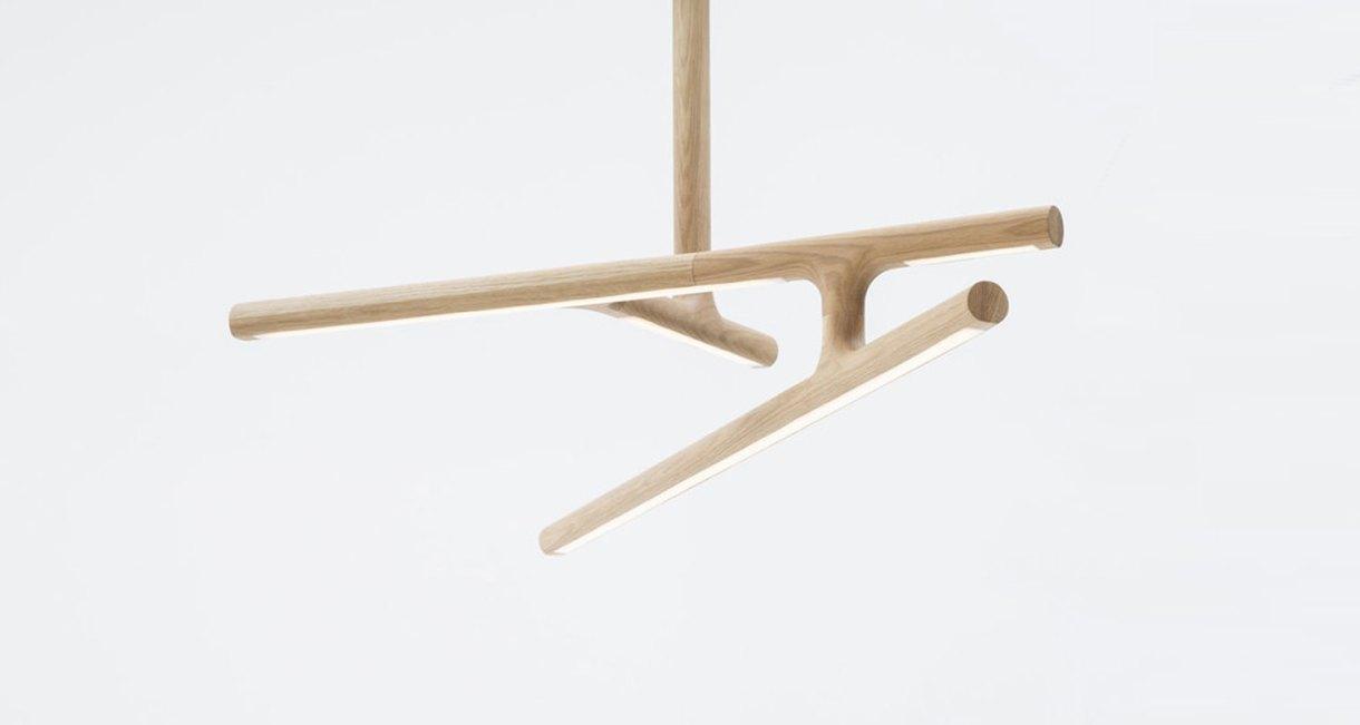 Modern Wood Antler light