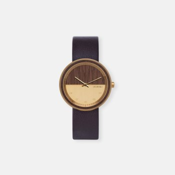 wooden-watch-Walnut-wood-stainless-steel-gold-finish-4