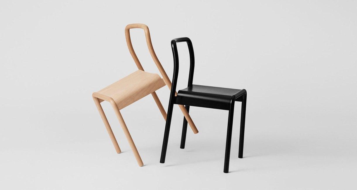 Beech Wood Minimal Chair