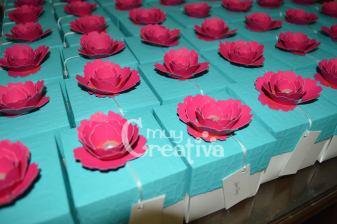 Tarjeta caja con rosa