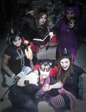Chicas claires halloween