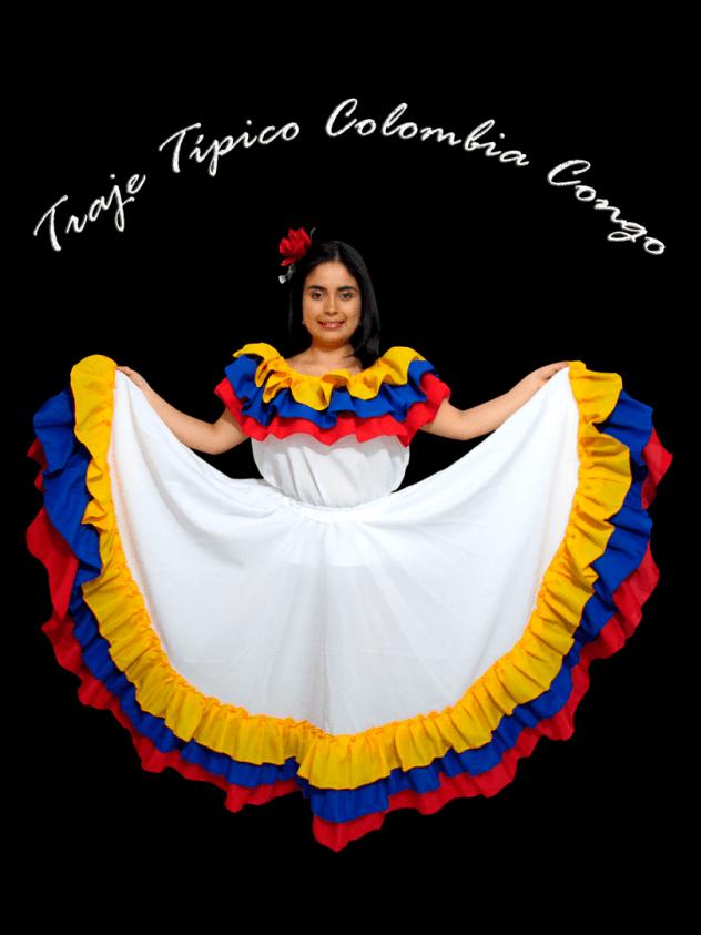 Traje Típico Colombia Blanco dama