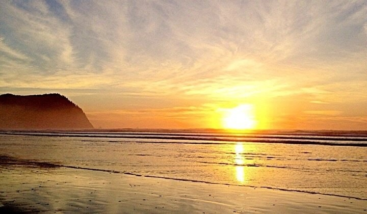Little Graces (sunset on the Oregon coast)