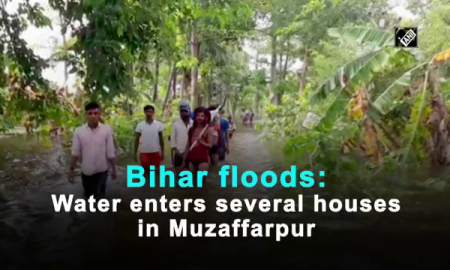 Bihar floods Water enters several houses in Muzaffarpur Video