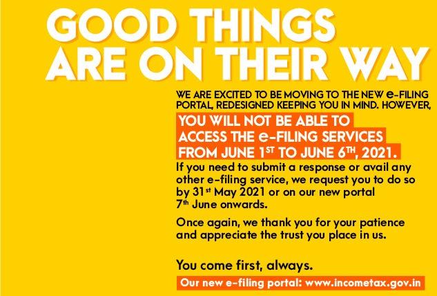 New e-Filing Portal wwwincometaxgovin launch on June 7th new