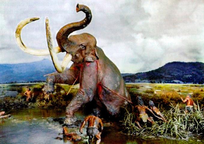 Лов на мастодон од пред повеќе од 10.000 години.