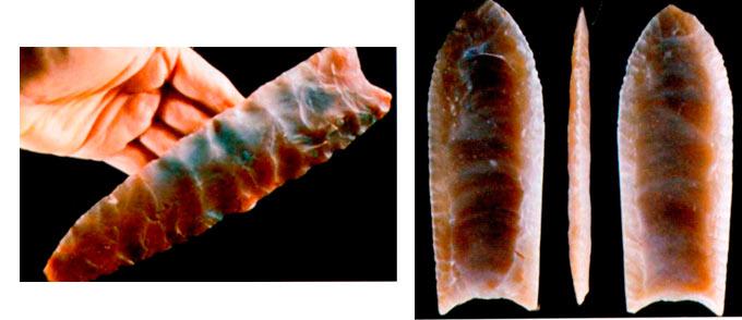 Кремени бодежи за копја кои датираат од пред околу 11.500 години.