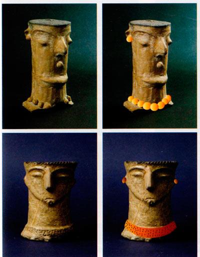 .Луѓето од пред 5000 год се украсувале со обетки и ѓередани изработени од различни материјали: коска, керамика, кожа, некои растителни семиња, школки, камени геми исл.