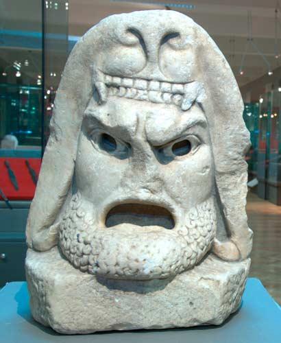Трагична маска со ликот на Херакле - постојана поставка - НУ Завод и музеј Битола