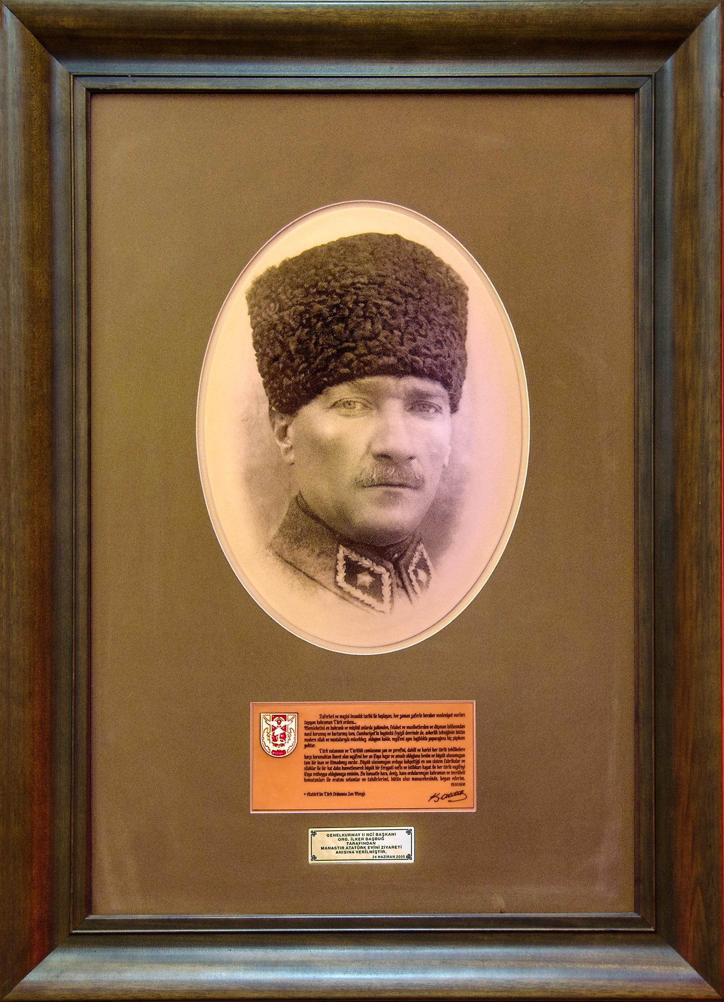 Слика од Мустафа Кемал Ататурк - спомен соба - НУ Завод и музеј Битола