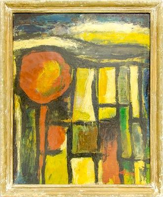 """Уметничка слика """" Пејзаж""""- современа уметност, автор Борислав Траиковски, Битола"""