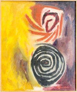 """Уметничка слика """"Спирали""""- современа уметност, автор Борислав Траиковски"""