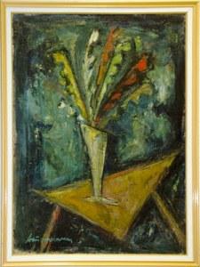 """Уметничка слика """"Цвеќе""""- современа уметност, автор Коста Хаџи Антоновски"""