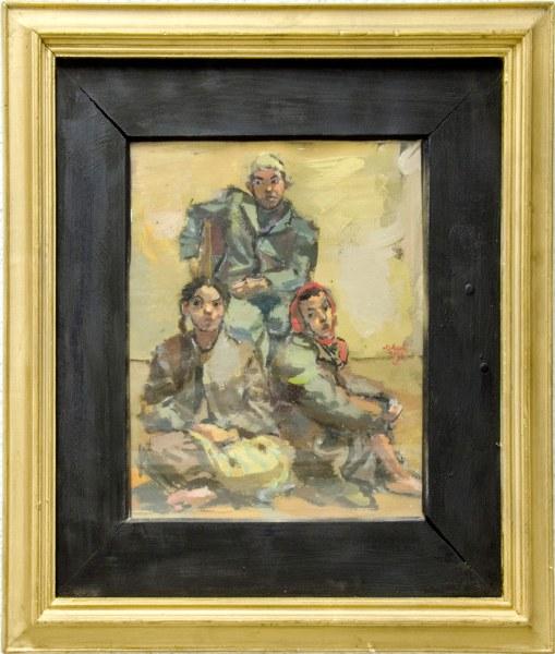 """Уметничка слика –""""Три деца""""""""- современа уметност, автор Никола Мартиноски"""