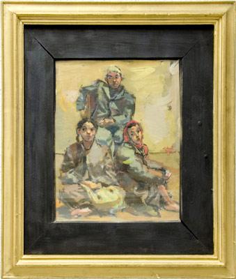 "Art Painting – ""Three Children"" – Contemporary Art, author Nikola Martinoski"