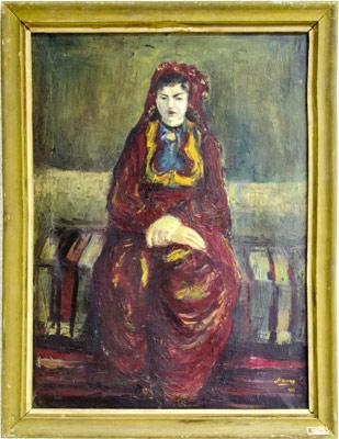 """Уметничка слика –""""Девојкa""""- современа уметност, автор Моамер Ејруп"""