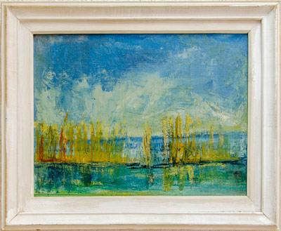 """Уметничка слика """"Пејзаж""""- современа уметност, автор Перо Спироски"""