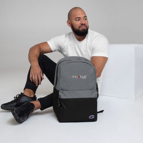 champion backpack heather grey black 5ff5eb6ae111f