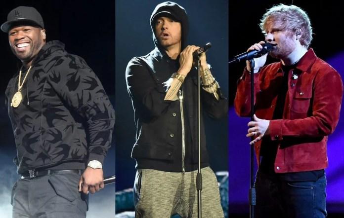50 Cent, Eminem i Ed Sheeran razem