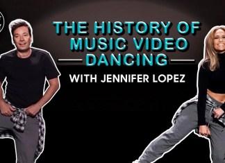Jennifer Lopez tańczy z Jimmym Fallonem
