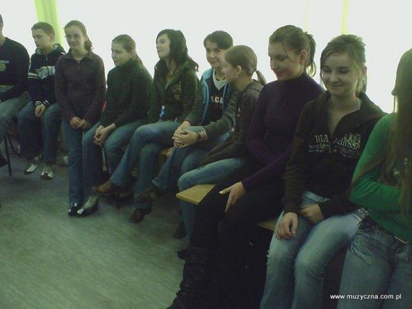 Zespół wokalny - próba przed koncertem...
