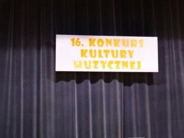 XVI Międzypowiatowy Konkurs Kultury Muzycznej