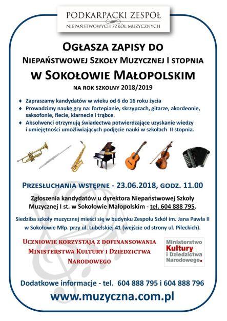 Sokołów (www) - ZAPISY 2018