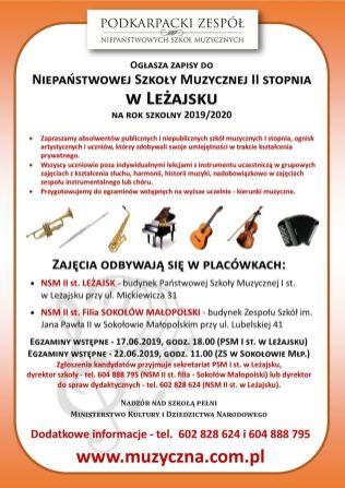 Leżajsk i Sokołów II st WWW- ZAPISY 2019