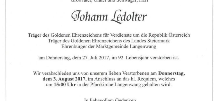 Johann Ledolter (1926-2017)