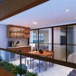 Perspectiva da Varanda Gourmet do apartamento quarto e sala com 1 suíte