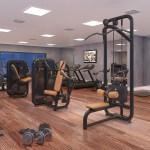 Perspectiva do fitness center