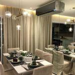 Foto da sala de jantar do apartamento decorado do Pituba Dolce Vita