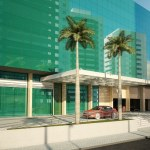 Perspectiva da entrada do Empresarial ITC Salvador
