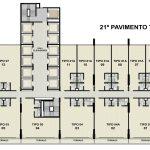 Planta baixa do 21º andar do Empresarial ITC Salvador