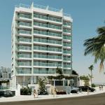 Perspectiva da fachada do Atlântico Porto Residence