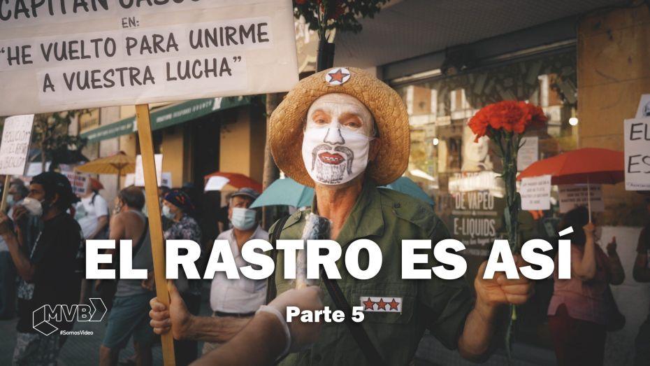 """Capitán Cascorro en la plaza a la que le dio nombre. Captura de imagen de """"El Rastro Es Así"""""""