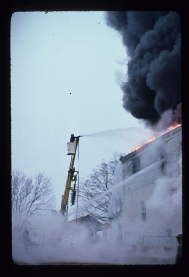 photo of City Hall on Fire
