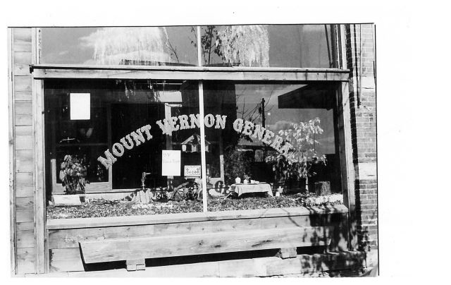 photo of Mount Vernon General Store Window