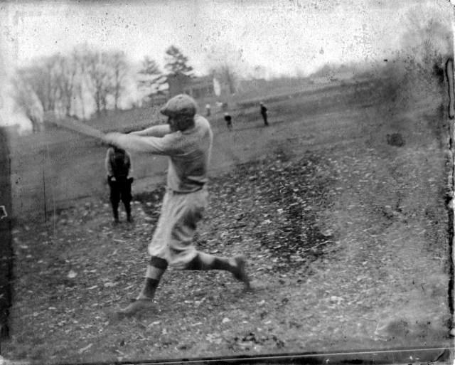 photo of Unidentified Man Playing Baseball