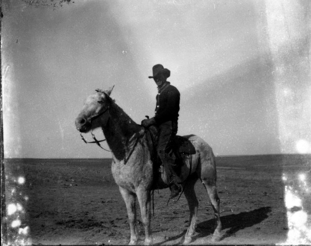photo of Unidentified Man on Horse