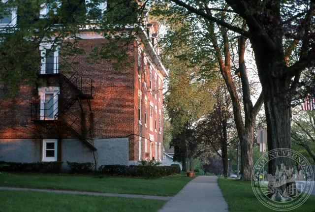 Photo of apartment house next to Methodist Church - 2002