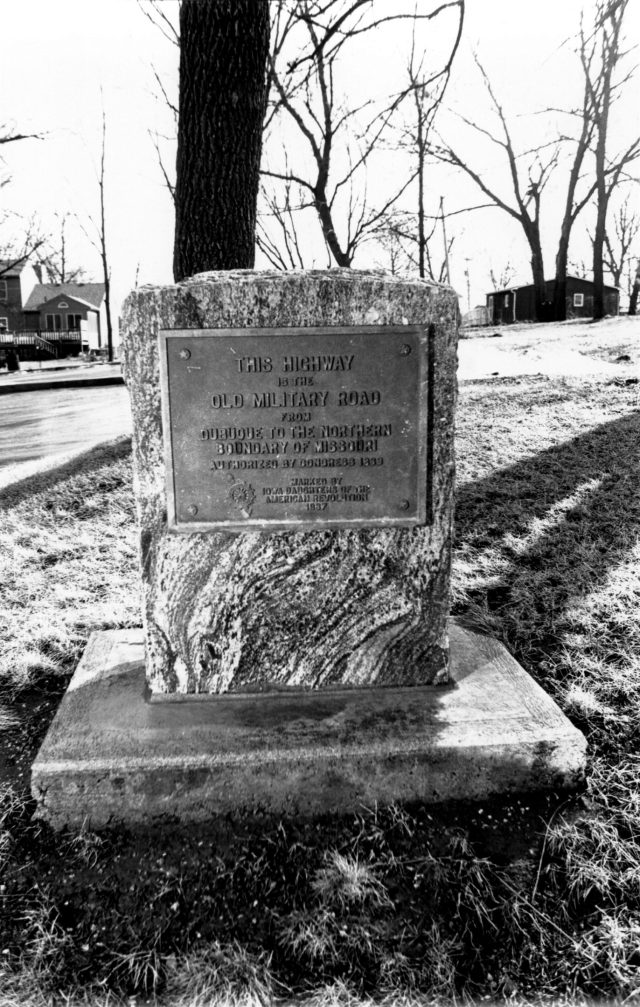photo of Military Road Marker Stone