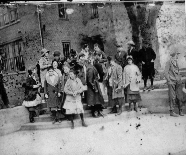 photo of Students in Front of High School