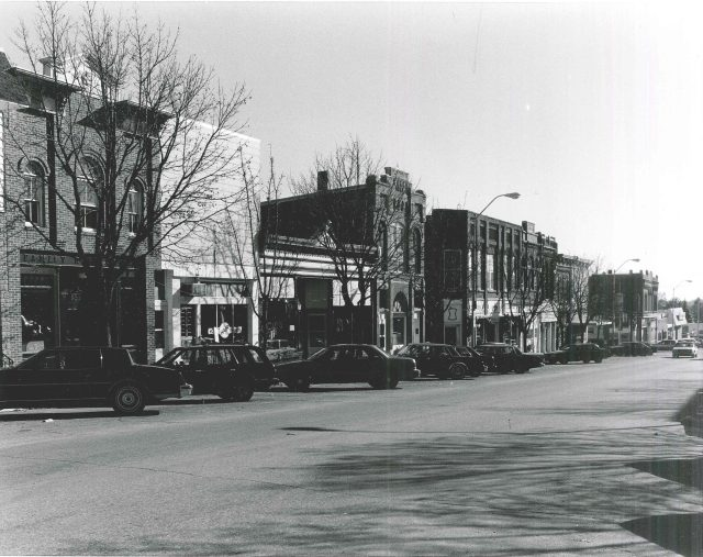 Photo of North side of First Street W looking East.