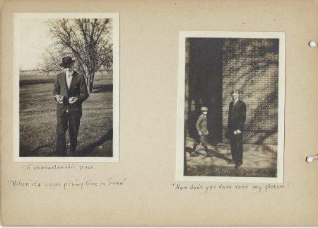 Two Photos of H.E. Kensinger, Mount Vernon High School