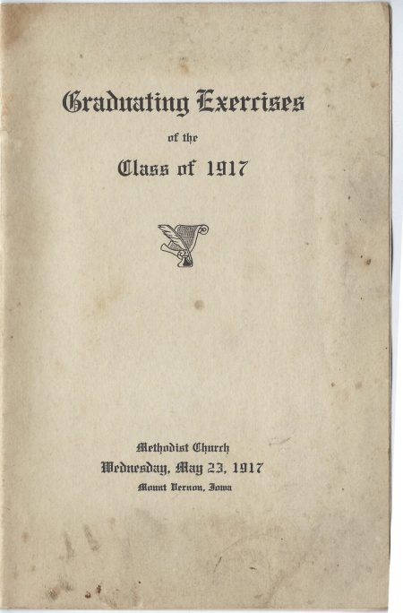 Photo of pamphlet for the graduating class of 1917.