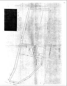 Photo of the plot plan of a house
